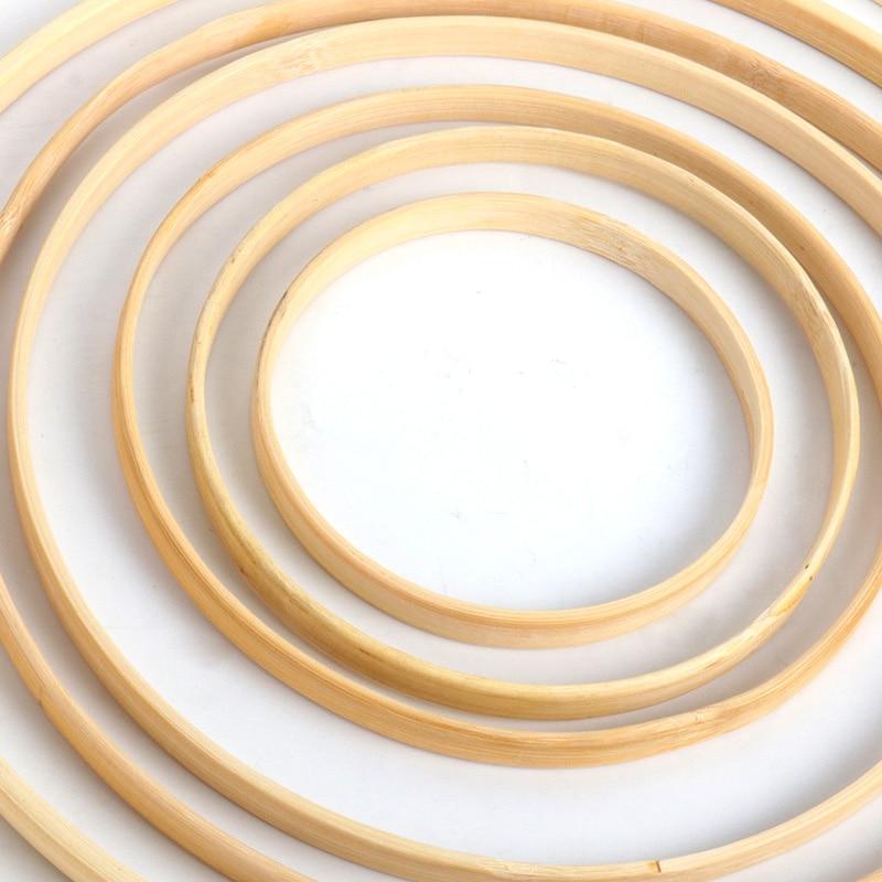 Guirnalda de bambú Natural DIY WEIGAO de 10-30cm para decoración del hogar, guirnalda de flores para manualidades, decoraciones de boda, guirnaldas de Navidad para baby shower
