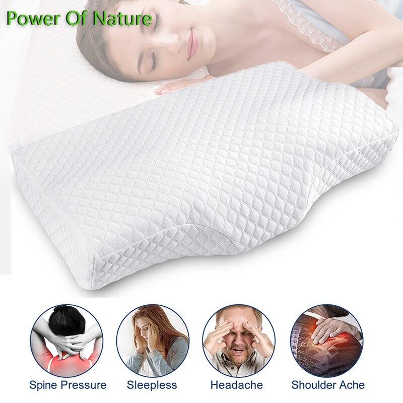 رغوة الذاكرة وسادة العظام النوم الاسترخاء العلاجية آلام الرقبة الوسائد لينة فراشة على شكل الرقبة حماية عنق الرحم 65*40 سنتيمتر
