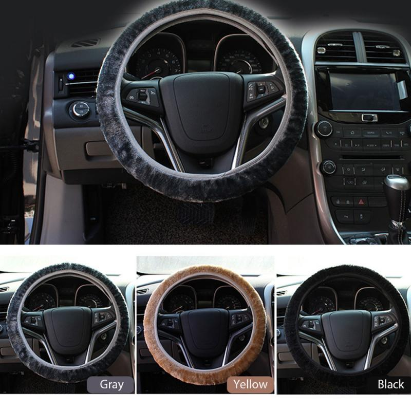 Universal Car Steering Wheel Cover Skidproof Auto Steering- Wheel Cover Anti-Slip Embossing Car-styling Interior Accessories