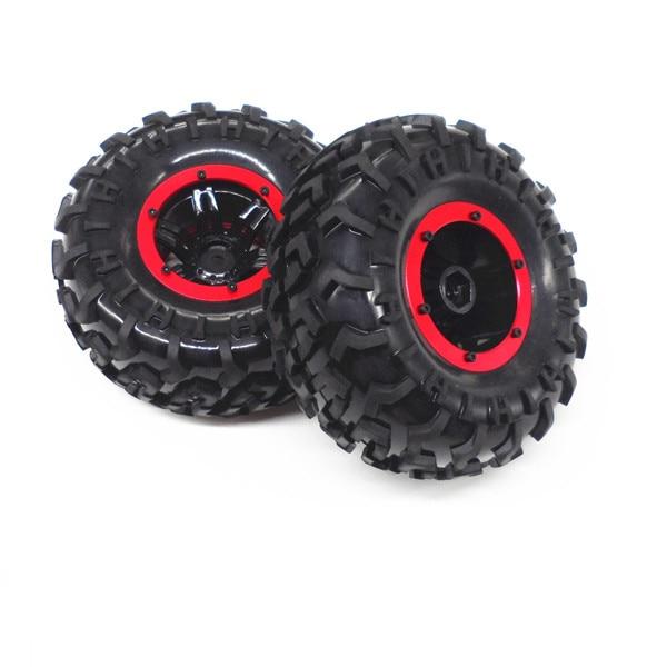Neumático de rueda de 130mm Rock Crawler, neumáticos de goma suaves D130mm, neumático en cubo de rueda de Metal para coches RC