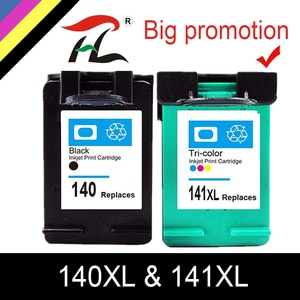 HTL 140XL 141XL Ink Cartridge Replacement for HP 140 141 for HP Photosmart C4283 C4583 C4483 C5283 D5363 printer