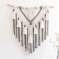 hand woven color macrame wall hanging ornament bohemian craft decoration gorgeous tapestry for home bedroom 55 65cm