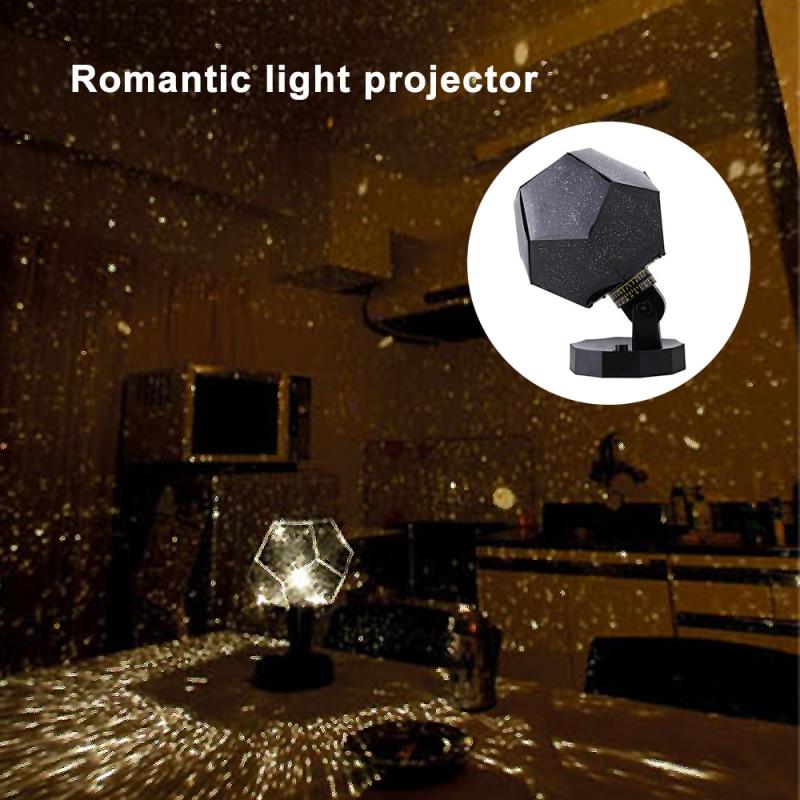 LED romántico planetario estrella proyector de cielo nocturno lámpara de decoración para el hogar cielo de estrellas celestes cósmicas luz nocturna dormitorio hogar