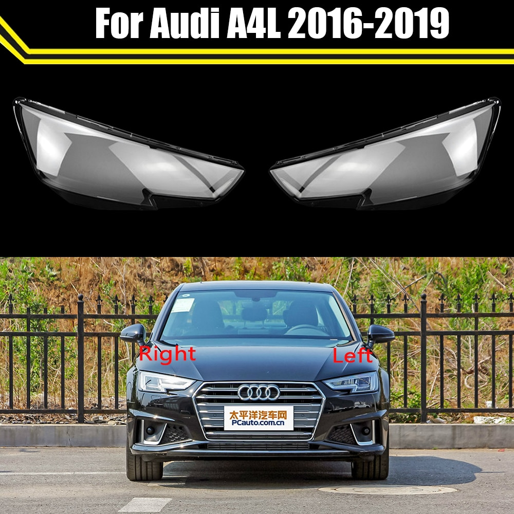 Head Lamp Light Case For Audi A4L 2016 2017 2018 2019 Car Front Headlight Lens Cover Lampshade Lampcover Caps Headlamp Shell