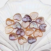 natural freshwater shaped pearl big peach heart baroque beads color love diy jewelry fashion necklace accessories 15 17mm