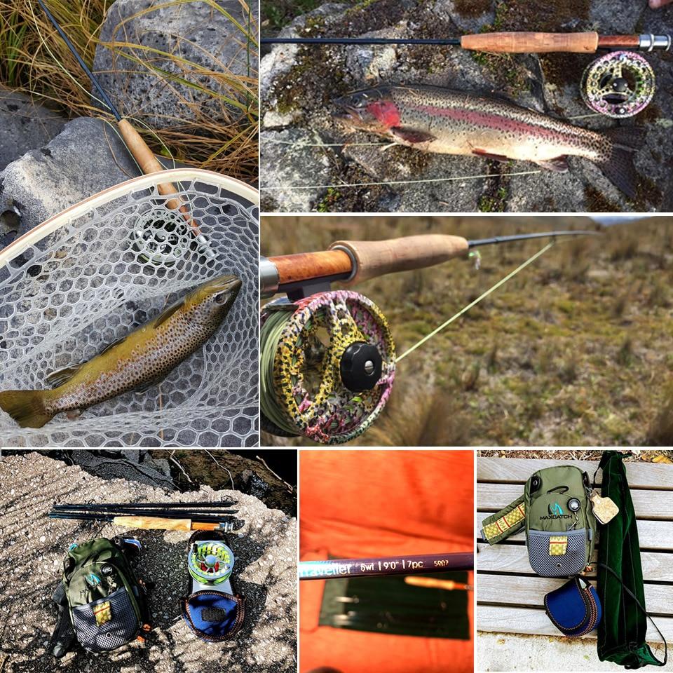 Maximumcatch 9FT 6/7/8WT 7Sec Traveler Fly Fishing Rod Combo Graphite IM10/30T+36T Carbon Fiber Fly Rod with Fly reel Kit enlarge