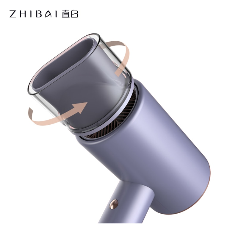 ZHIBAI Water Ion Hair Dryer Purple Quick-Drying Hairdryer Fan Dryer Beautifully Packaged And Portable Travel enlarge
