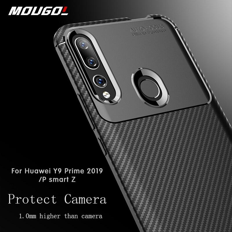 Funda para Huawei P Smart 2019 para Huawei Y9 Prime Y6 Y5 Y7 2019 2018 P Smart Z Y6 Pro, carcasa trasera suave de fibra de carbono con textura completa