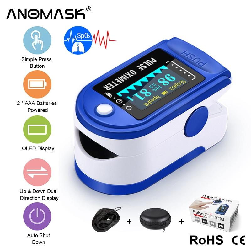 Medical Household Fingertip pulse Oximeter Blood Oxygen Saturation Meter Finger LED two-color display SPO2PR Monitor health Care