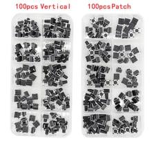 100 adet kutu inceliğini anahtarı 4-ayaklı dikey/yama 6*6*4.1/4.3/5/6/6.5/7.5/8/9.3/10.5/12mm mikro basmalı düğme anahtarı anahtar anahtarı