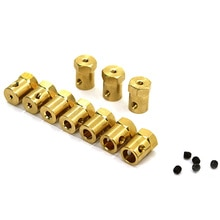10PCS Brass Hexagonal Coupling 3/4/5/6/7/8mm Hole Diameter for RC Model Toy Vehicle Car Robots DIY P
