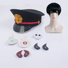 Jibaku Shounen hanako-kun toilette liée Hanako kun Cosplay chapeau casquette chapeaux autocollant accessoires Nene Yashiro Minamoto Kou perruques de Costume