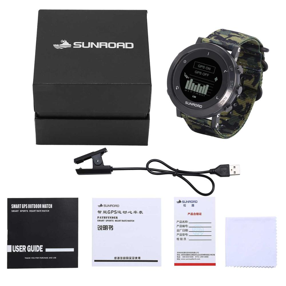 Sunroad GPS smart watch with army waterproof heart rate altimeter running triathlon wrist digital watch for men  - buy with discount