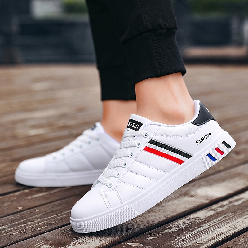 Men Non-Slip Sneakers White Breathable Casual Male Outdoor Walking Sport Shoes Fashion Flat High-Qua