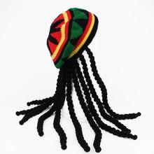 Hip Hop Cap Knitted Wig Braid Hat Unisex Jamaican Bob Marley Rasta Beanie Winter Gorra Hombre Dreadl