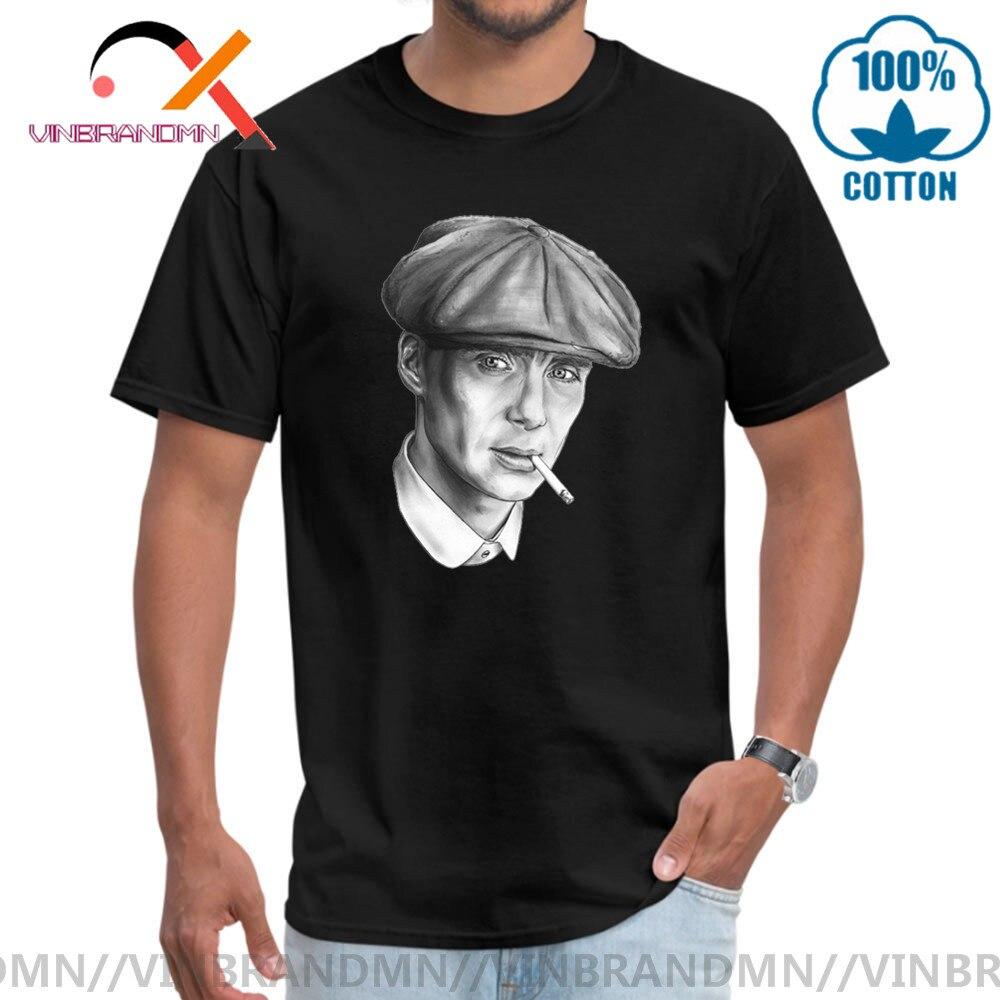 Plus récent par ordre de Peaky Blinders affiche hommes haut t-shirt coton été mode o-cou personnalisé Tommy Shelby t-shirt Design