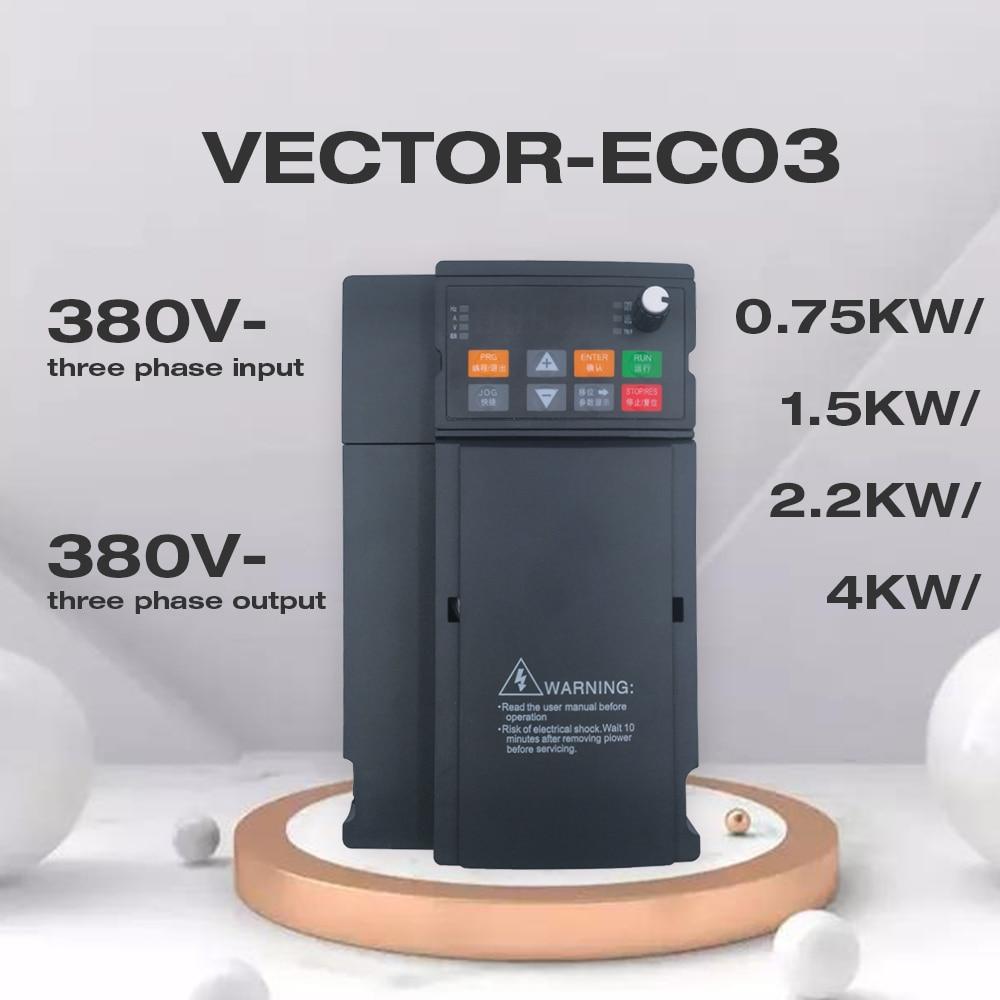 VFD 380V 1.5kW/2.2KW/4KW محول تردد متغير 3 مراحل محول منظم السرعة المحرك Angisy EC03