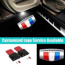 2x سيارة لاسلكية أضواء الباب كامارو شعار ترحيب شبح الظل أضواء ل SS RS ZL1