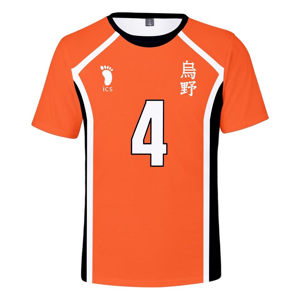 2020 Лето Забавный кошма школьной волейбольной команды (Karasuno Хината Smash, Детская футболка с аниме-волейбол 3d красочная футболка с принтом Футб...