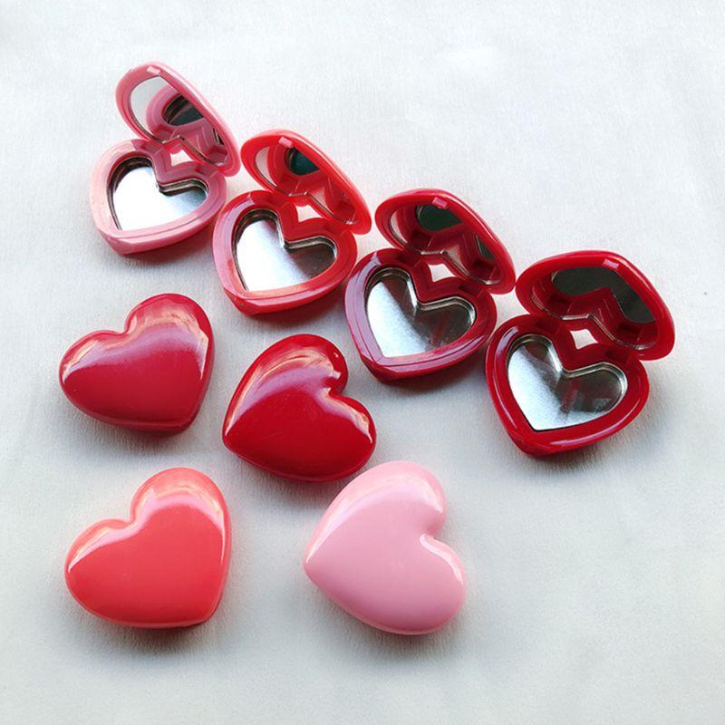 Amor amor coração forma vazio sombra caso rouge batom caixa paleta pigmento recarregáveis fundação maquiagem dispenser com pálete
