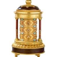wheel electric prayer wheel pure copper to gold barrel huibao buddhist supplies buddha front prayer wheel large size 30cm