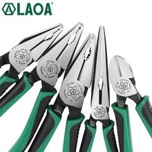 1 pièces LAOA CR-MO pince combinée pince à Long nez pince de pêche coupe-fil dénudage Type américain outils pour électricien