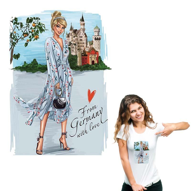 Love Woman, transferencia de hierro lavable, nueva moda Diy, transferencia de calor, camiseta, pantalones vaqueros, parches de decoración para ropa