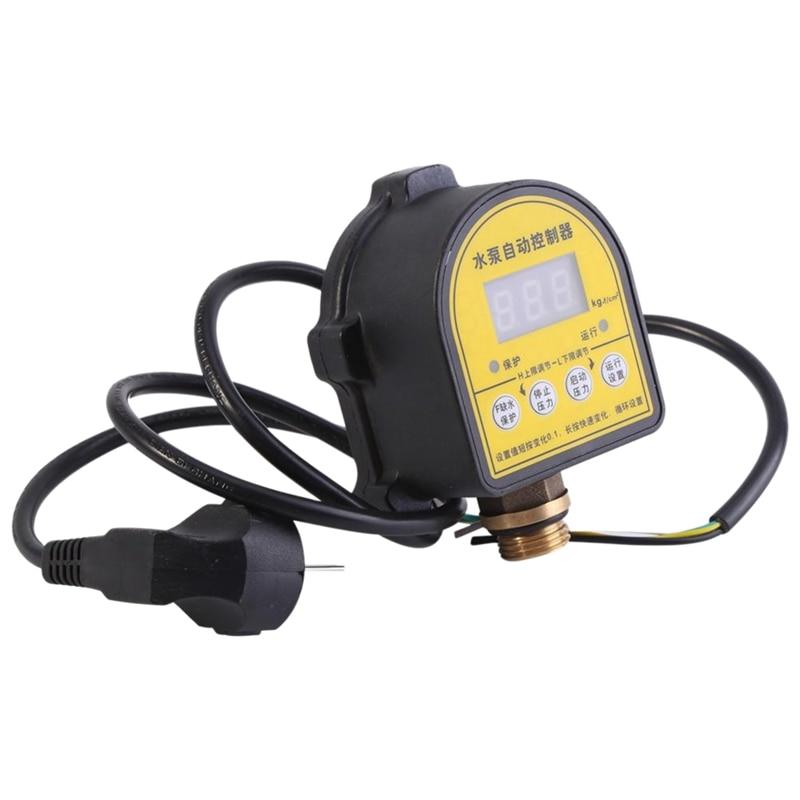 مضخة مياه بمفتاح رقمي 220 فولت مع شاشة عرض Lcd ، ومفتاح تحكم في الضغط الإلكتروني التلقائي ، ومفتاح تشغيل/إيقاف