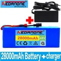 48v battery pack 48v 28ah 1000w 13s3p lithium ion batterij voor 54 6v e fiets elektrische fiets scooter met bms laderbms 48v