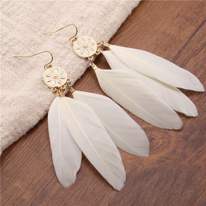 Mutiple Vintage bohemian blue white long earrings for women fashion sexy women's 2020 dangle drop jewelry accessories bride gift