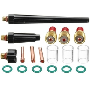 18Pcs Tig Welding Torch Stubby Gas Lens Gl Nozzle Cup Kit For Wp-9/20/25 Tig Torch Welding Accessories