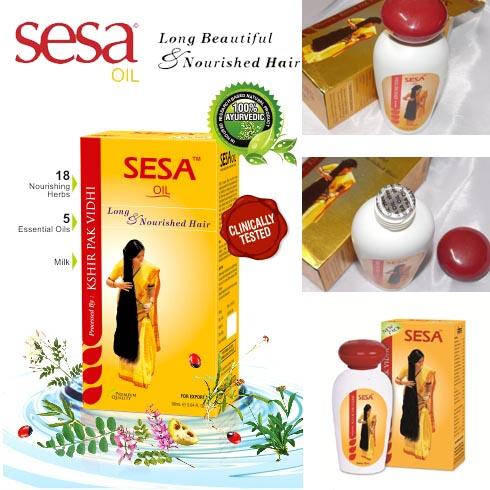 Aceite de cabello indio Sesa para un cabello saludable que previene la caspa, la pérdida de cabello que revienta el cabello 100% Ayurvédico 90ml-XF DZ
