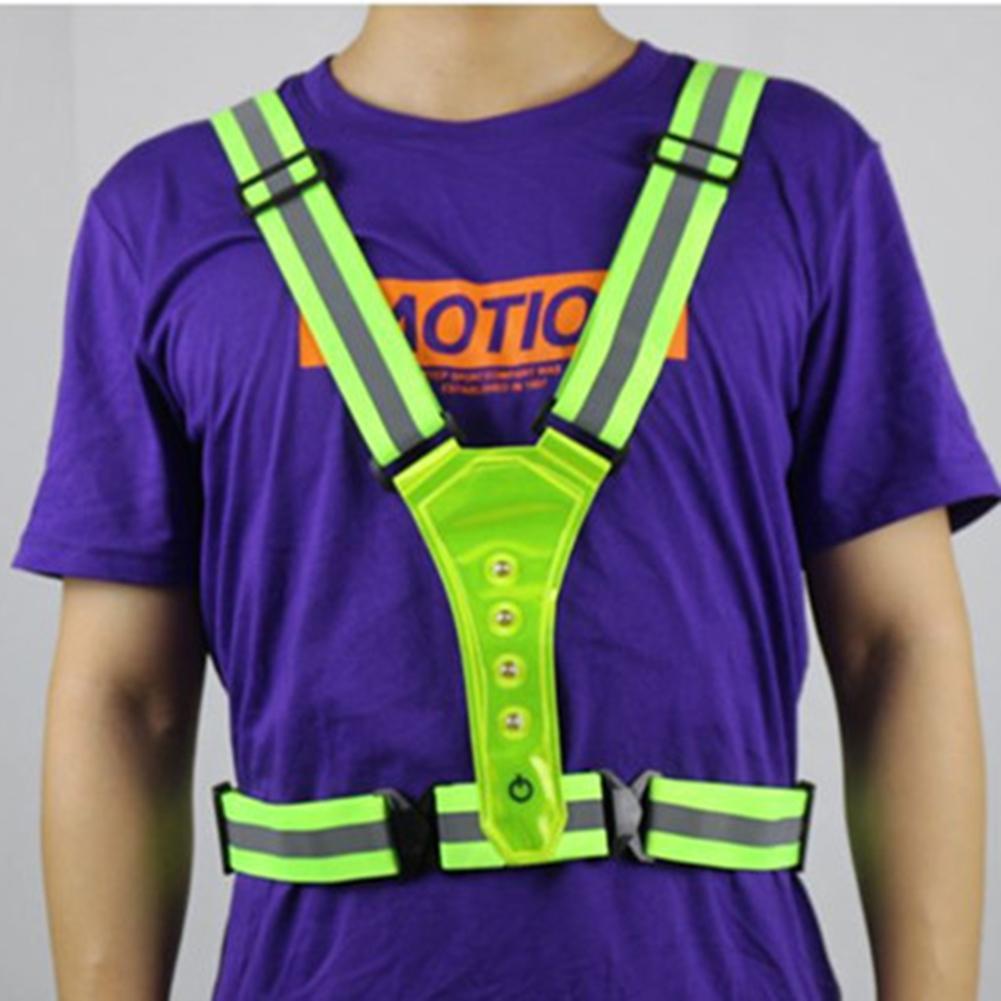 Chaleco de seguridad ajustable con cintas reflectantes, banda elástica para correr, deportes...