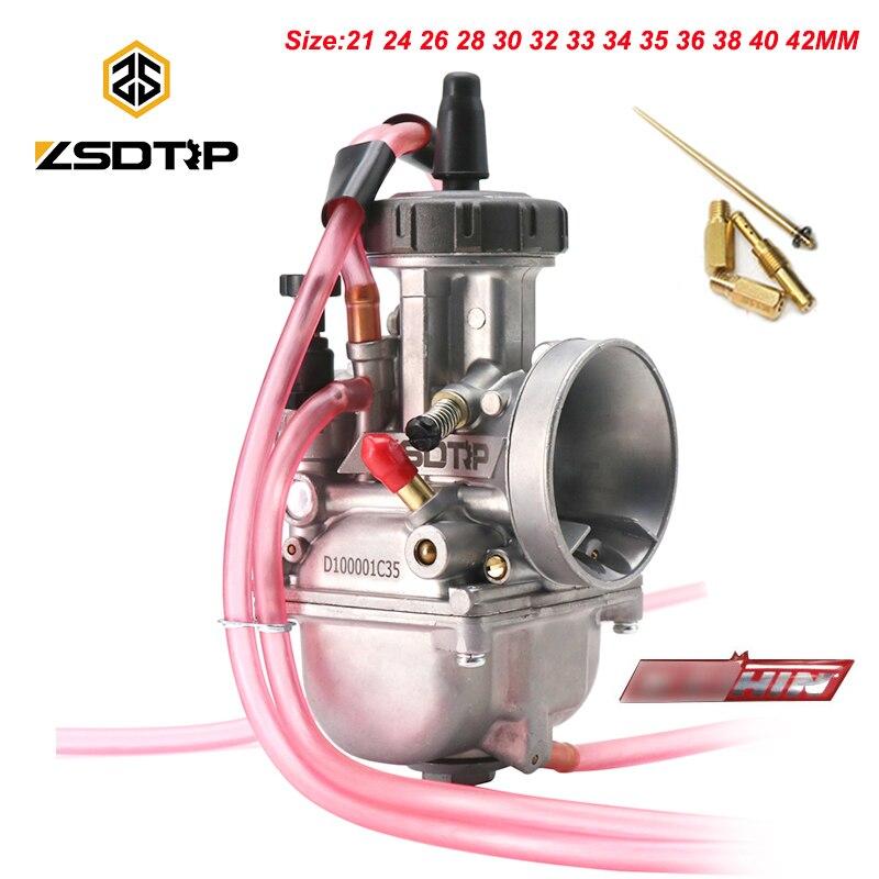ZSDTRP العالمي PWK دراجة نارية المكربن ل كيهين Racing Carb 2T 4T المحرك 21 24 26 28 30 32 33 34 35 36 38 40 42 مللي متر