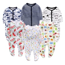 Pasgeboren Baby Kleding Meisjes Rompertjes Baby Baby Cartoon Klimmen Jumpsuit Katoen Zachte Kleding Herfst Jongens Pyjama Nachtkleding