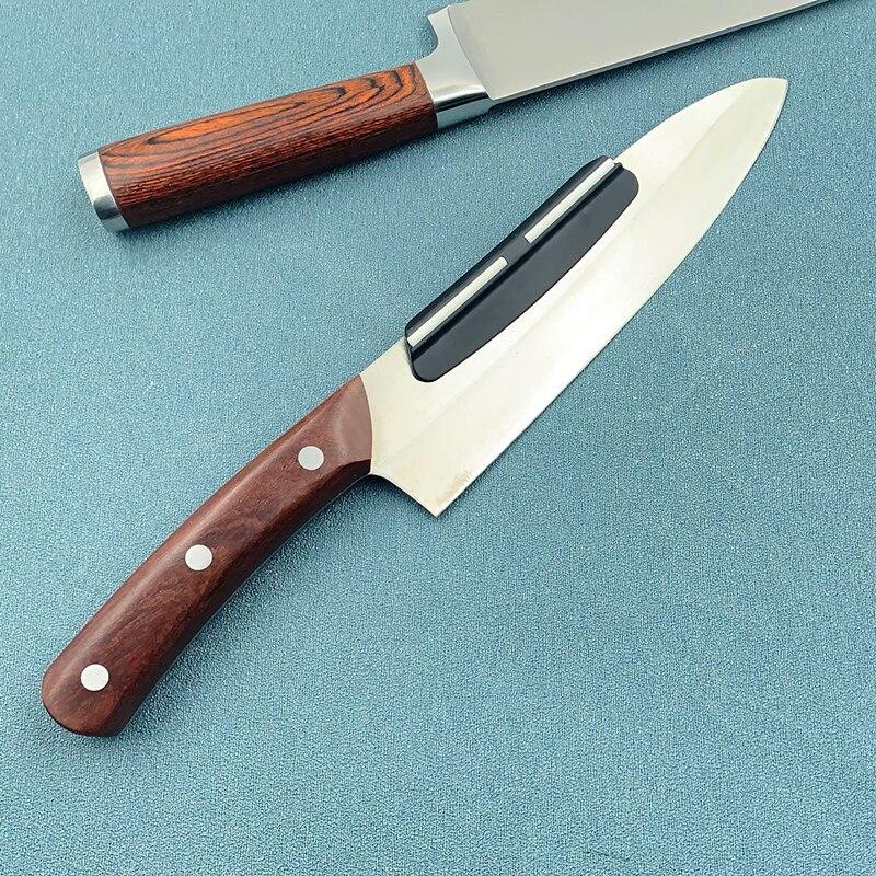 Зажим для ножа плотно фиксированный угол хонинга направляющие для заточки ножей края Бытовых Кухонных Ножей