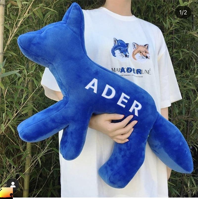 Ader erro azul raposa maison kitsune bordado brinquedo t transporte rápido