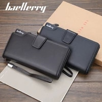 baellerry purses and handbags luxury designer men wallets high quality card holder male purse zipper large capacity money bag