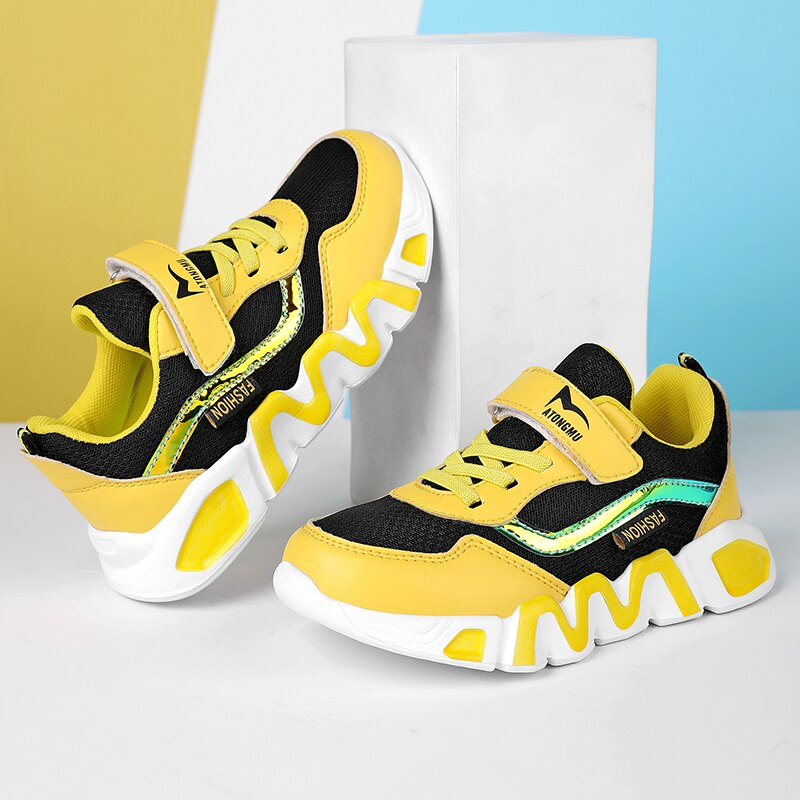 2021 New Kids Sport Shoes for Boys Sneakers Girls Breathable Basketball Shoes Boys Children Casual S