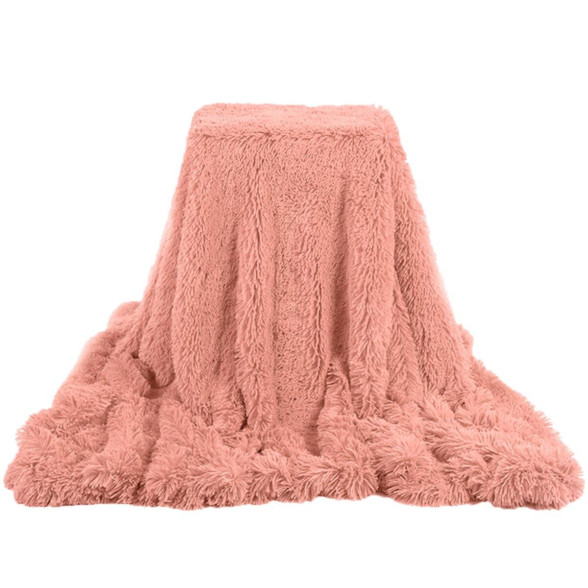 Мягкое Роскошное Одеяло, плюшевое Шелковистое покрывало из искусственного меха, летнее одеяло, покрывало для свадебного декора