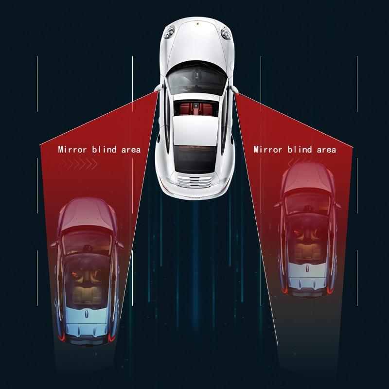 Sistema de Detección de Radar de espejo de punto ciego de coche BSD BSA BSM, sensor de punto ciego de microondas, aviso de salida de carril de monitoreo visible