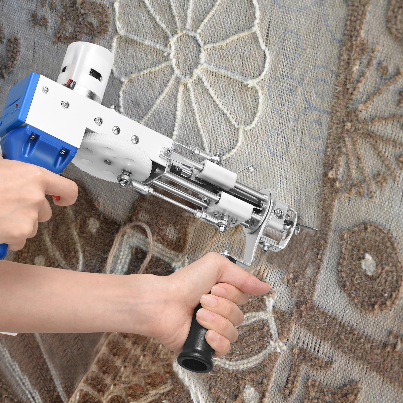2 In 1 Tufting Gun Electric Cut Pile Loop Pile Carpet Weaving Knitting Machine Hand Gun Carpet Weaving Flocking  Rug Machines enlarge