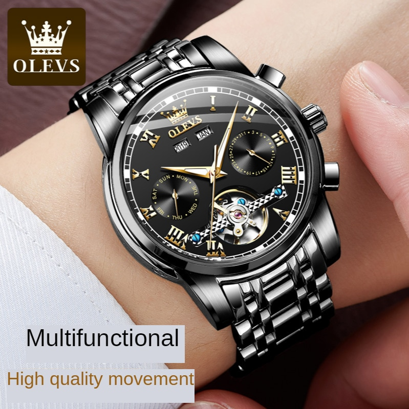 Fashion watch multifunctional automatic mechanical watch watch men's men's watch trend enlarge