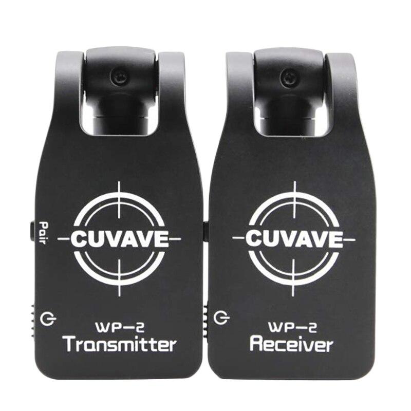 CUVAVE Wp-2 2,4 GHZ inalámbrico Sistema de guitarra transmisor Digital receptor para guitarra eléctrica bajo incorporado recargable de litio