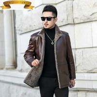 2021 winter leather genuine jacket men shearling fur coat for men warm real wool fur chaqueta cuero hombre jm zlh11931 pph438