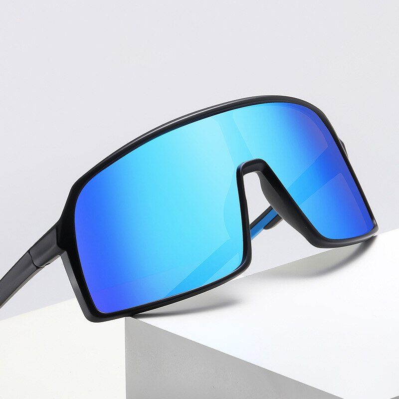 HEISKING 2021 TR90 Siamese Large Frame Polarized Sunglasses For Men Women Outdoor Cycling Riding Eye