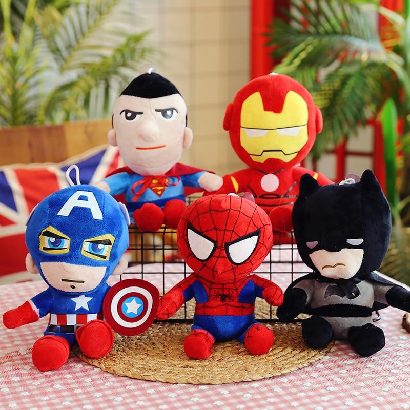 27cm Marvel Avengers 4 Superhero all staff Plush toy Dolls Captain America Ironman Iron man Spiderman Thor Plush Soft Toy B618