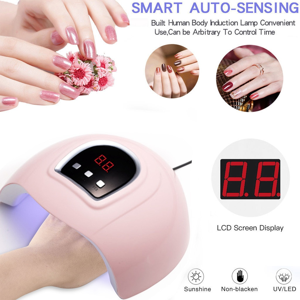 Secador de uñas profesional LED 54W UV Gel de uñas secado rápido máquina de Arte de uñas USB Lámpara inteligente luz solar uñas Gel polaco secador L429
