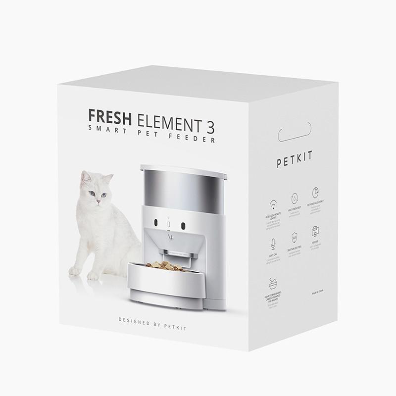 PETKIT Automatic Pet Feeder 304 Stainless Steel Moisture-proof Keep Fresh APP Remote Control Smart Cat Dog Food Dispenser Bowl