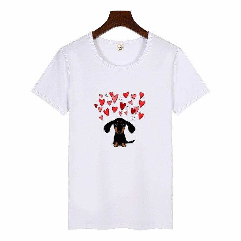 Dachshund Pug Terkel Funny T Shirt Women Harajuku Cute French Bulldog German Shepherd Print T-shirt Female Casual O-neck tshirt